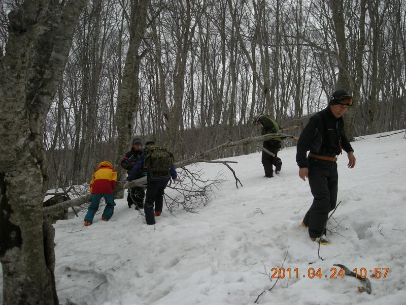 2011年岩木山春スキー 58