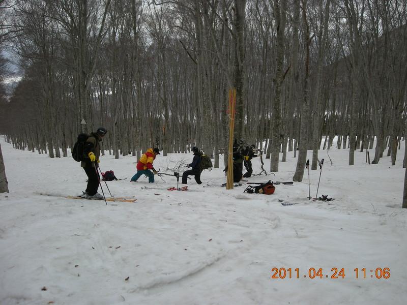 2011年岩木山春スキー 63