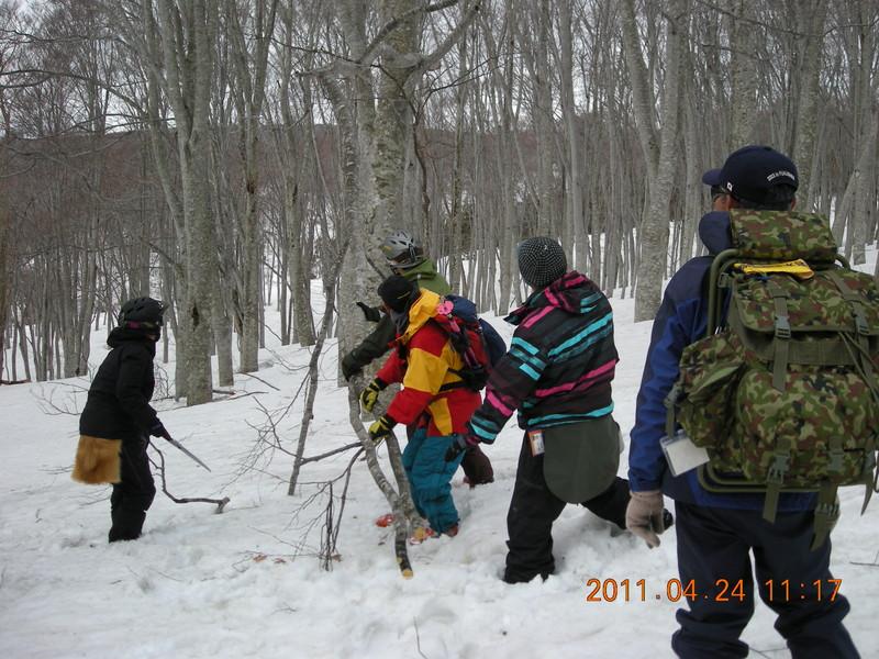 2011年岩木山春スキー 64