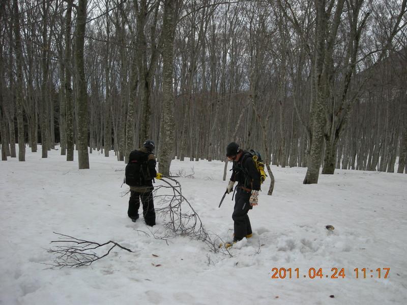 2011年岩木山春スキー 65