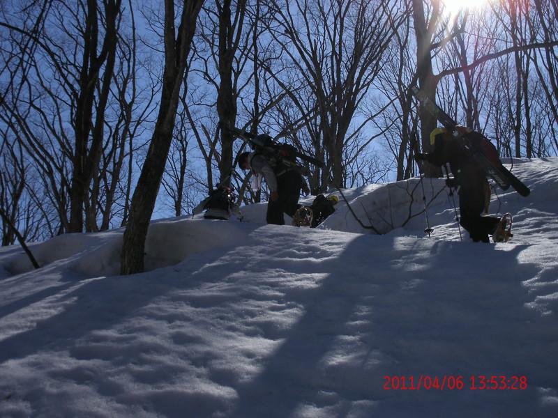 2011年岩木山春スキー 78