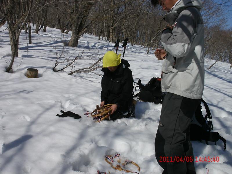 2011年岩木山春スキー 80