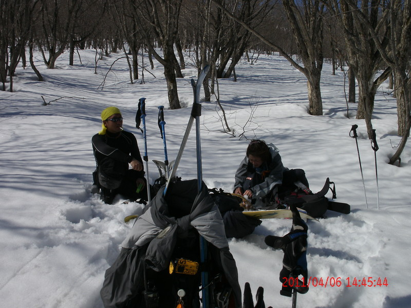 2011年岩木山春スキー 81