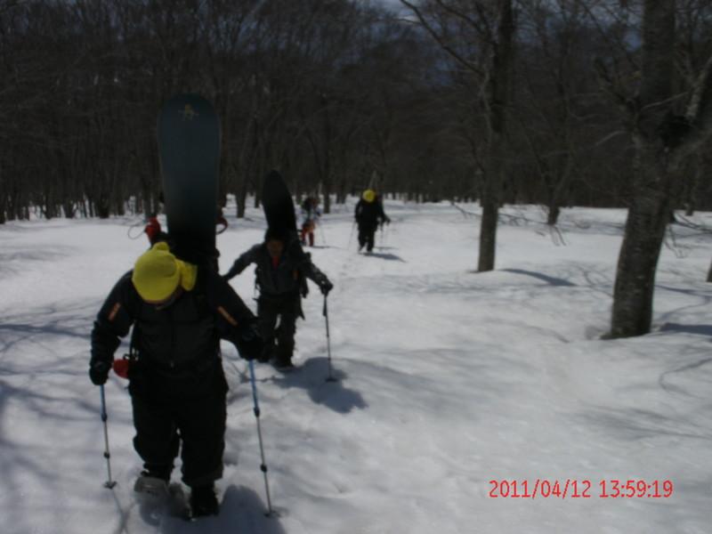 2011年岩木山春スキー 90